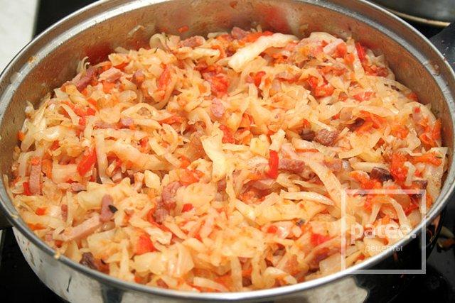 как потушить свежую капусту в сковороде