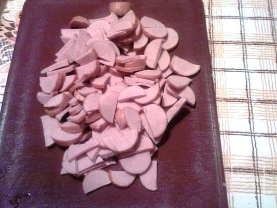 Гречка с грибами и сосисками