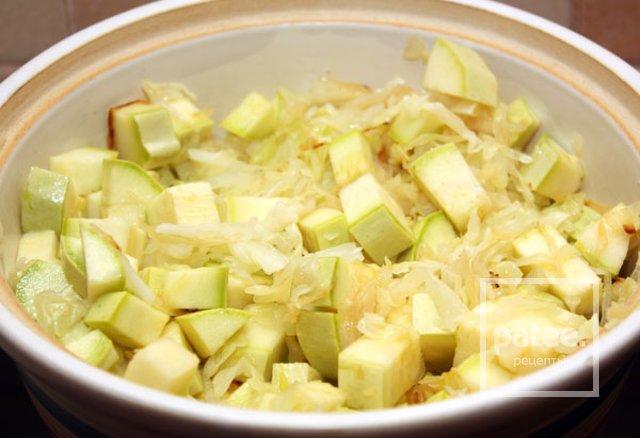 калорийность овощного рагу из кабачков и капусты