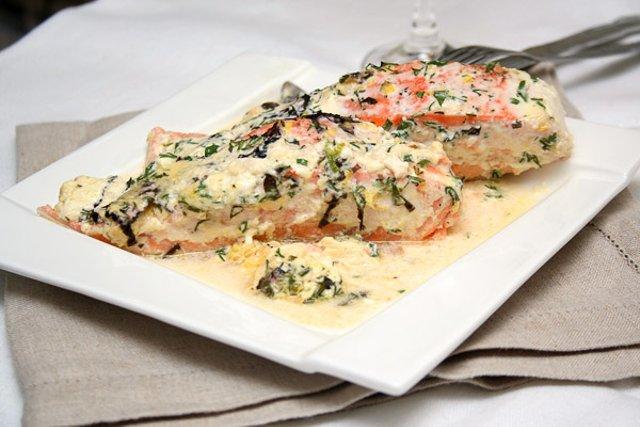 Блюда из лосося в духовке