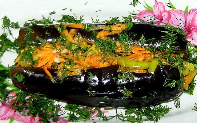 Маринованные баклажаны с помидорами и перцем чили — 6