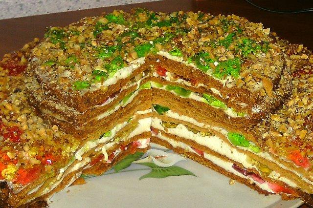 торт медовик с желатином рецепт