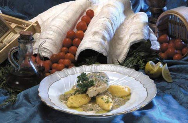 Блюдо из вяленой трески
