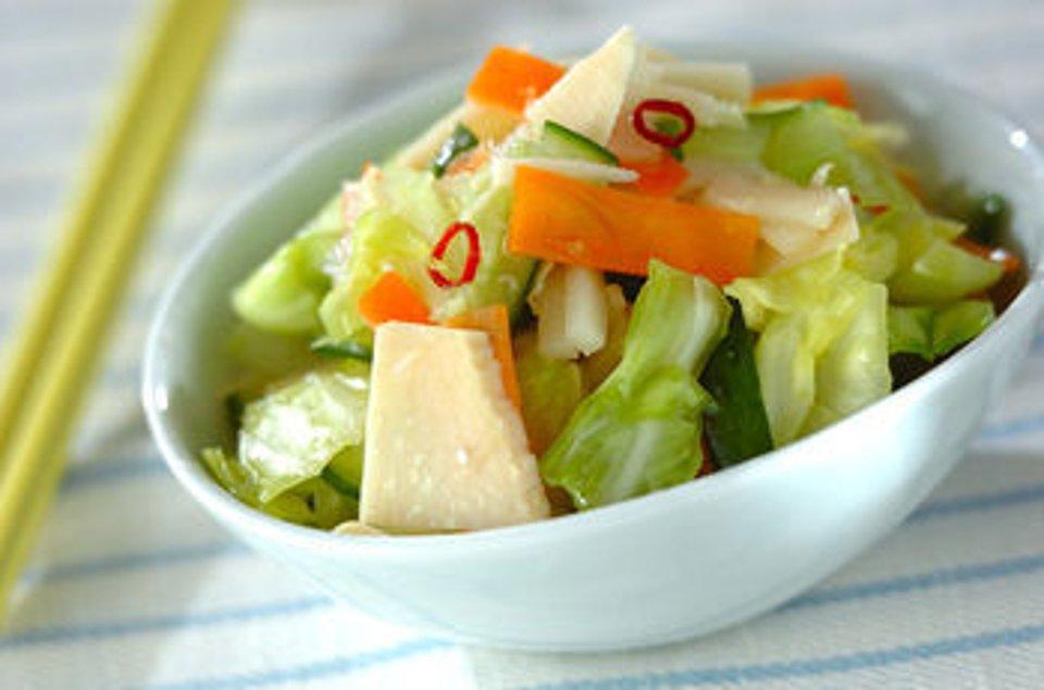 Маринованные овощи под кисло-сладким соусом