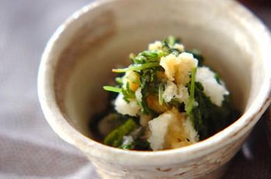 Рецепт Зеленый салат из тертой репы