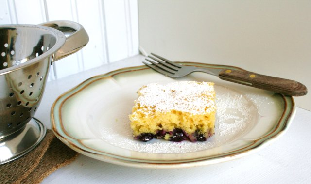Торт из рикотты с черникой и лимоном