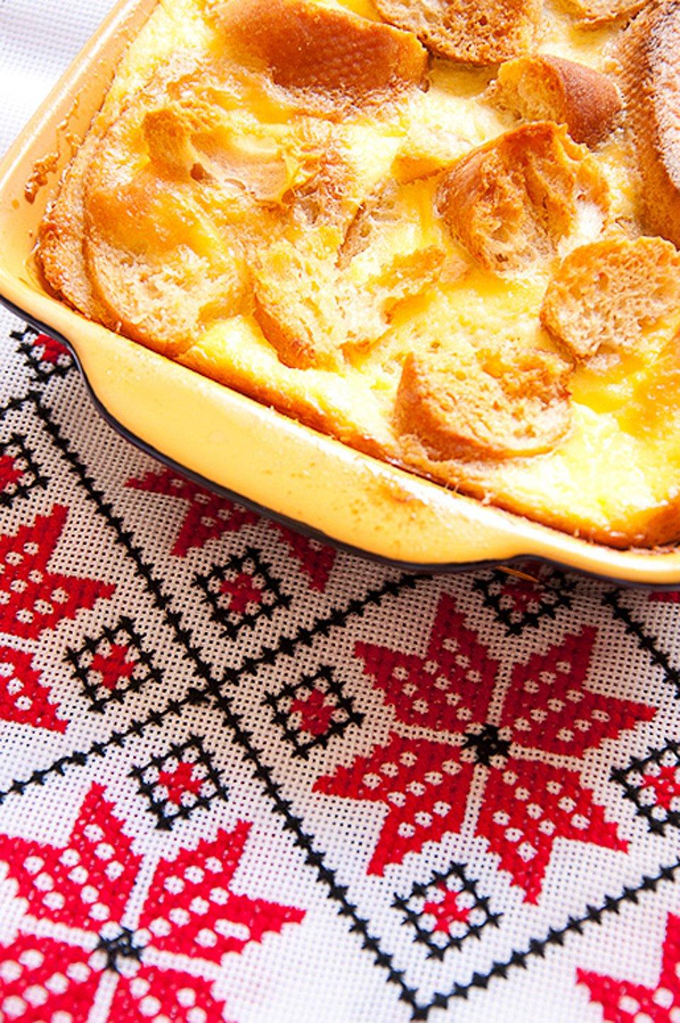 Карамельный хлебный пудинг