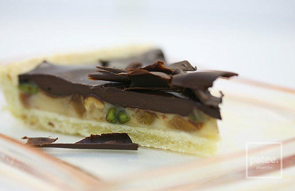 Шоколадный пирог с сухофруктами