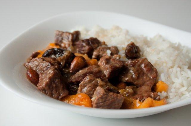 Мясо с сухофруктами рецепт