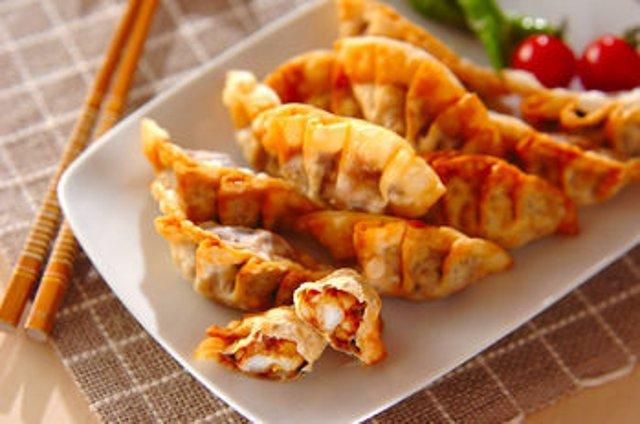 рецепт пельмени с креветками