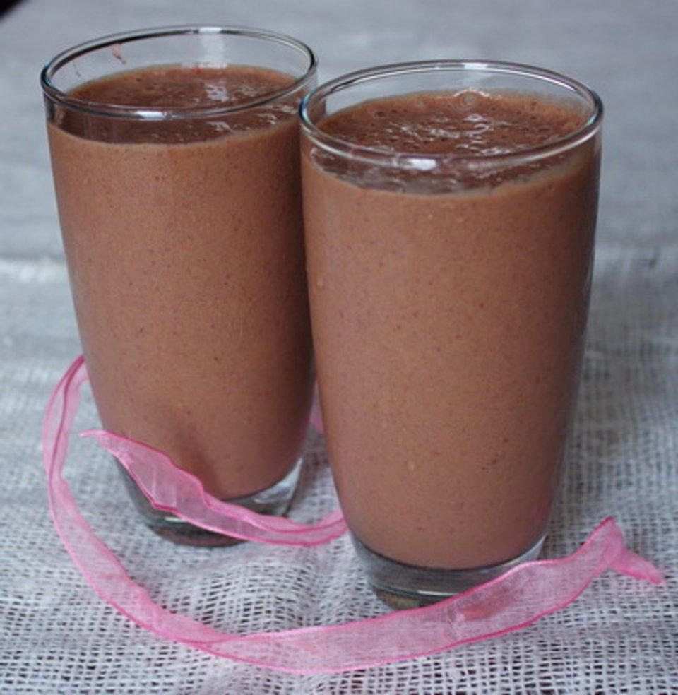 Клубнично-шоколадный шейк