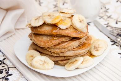 Рецепт Кокосовые блинчики с бананами