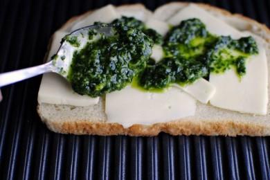 Сэндвичи с песто - приготовление