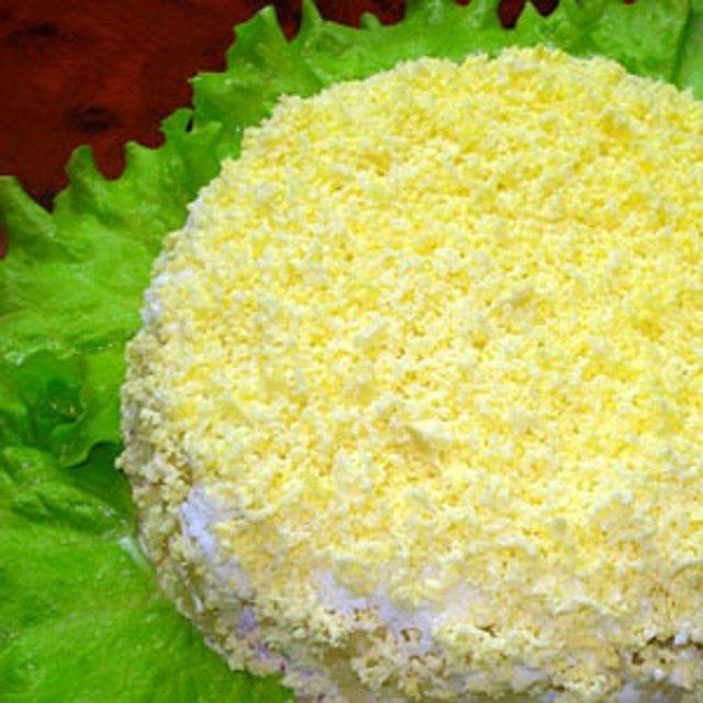салат мимоза с маслом видео рецепт