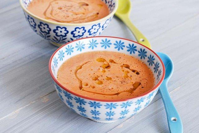 Охлажденный томатный суп