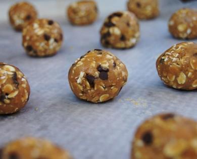 Рецепт Овсяные шарики с арахисовым маслом