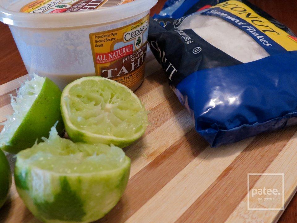 Лаймовые кексы с сезамовым маслом