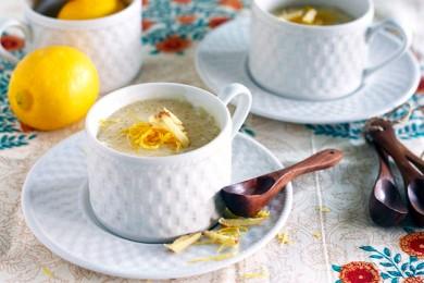 Рецепт Лимонный пудинг с имбирем