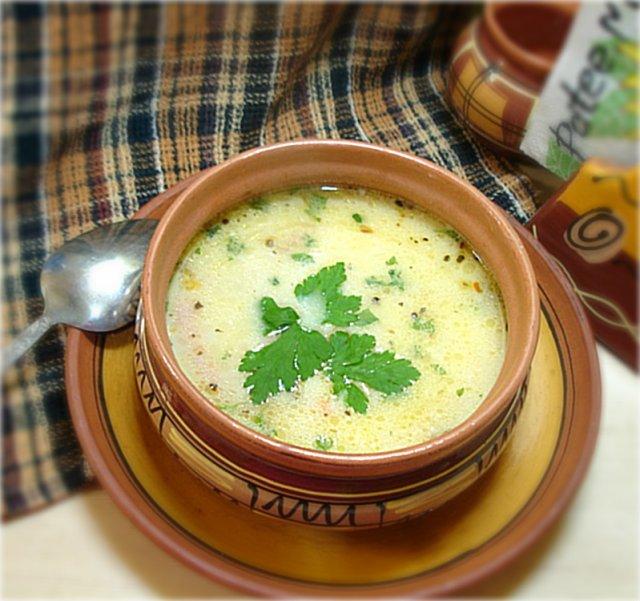 суп с плавленным сыром и колбасой рецепт с фото