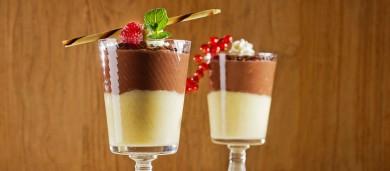 Рецепт Шоколадно-ванильный пудинг