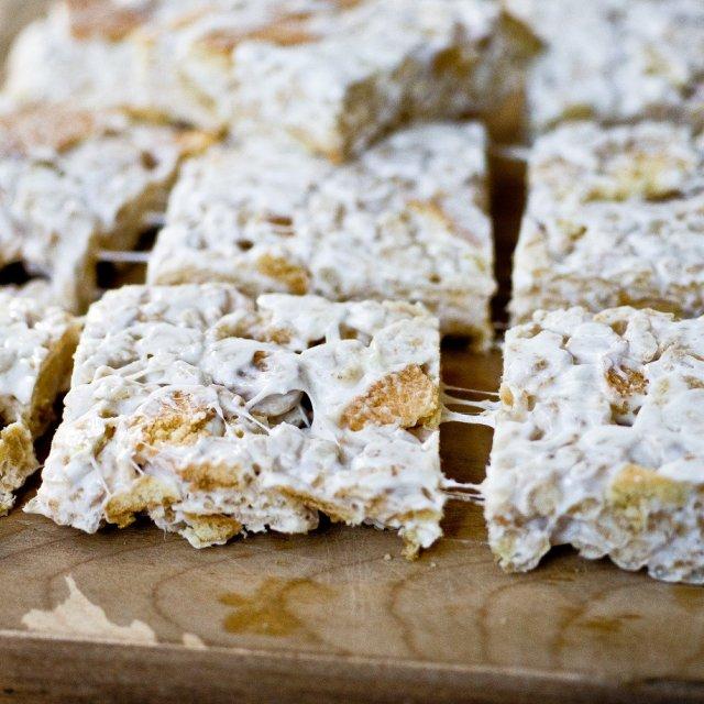 Ванильное печенье с воздушным рисом