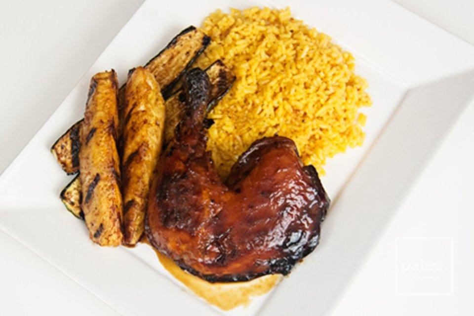 Жареная курица под соусом терияки