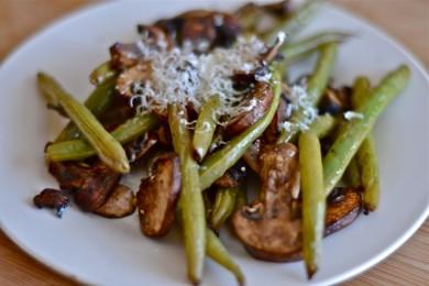Рецепт Зеленая фасоль с грибами