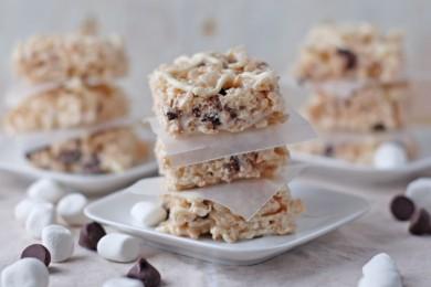 Рецепт Плитки из воздушного риса с зефиром и шоколадом