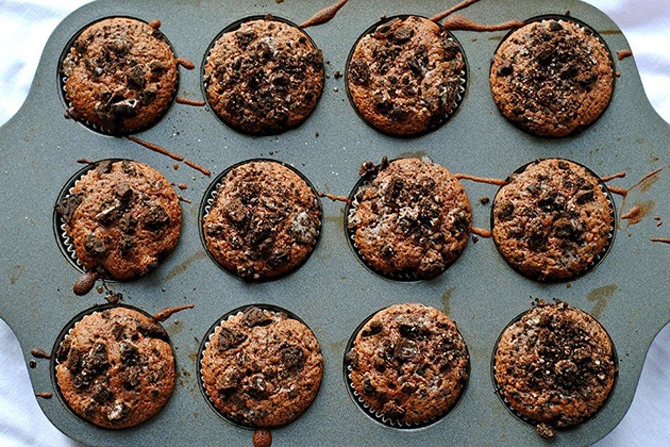 Шоколадные пирожные с печеньем Орео