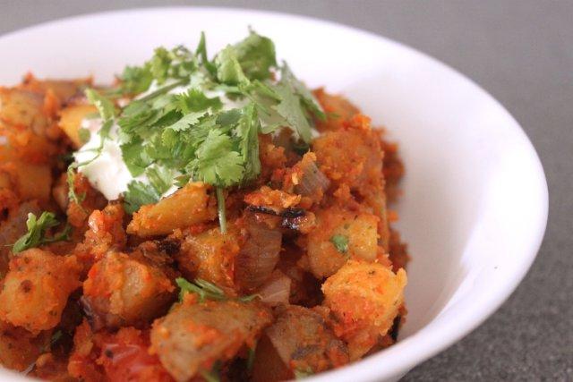 Картофель в остром соусе