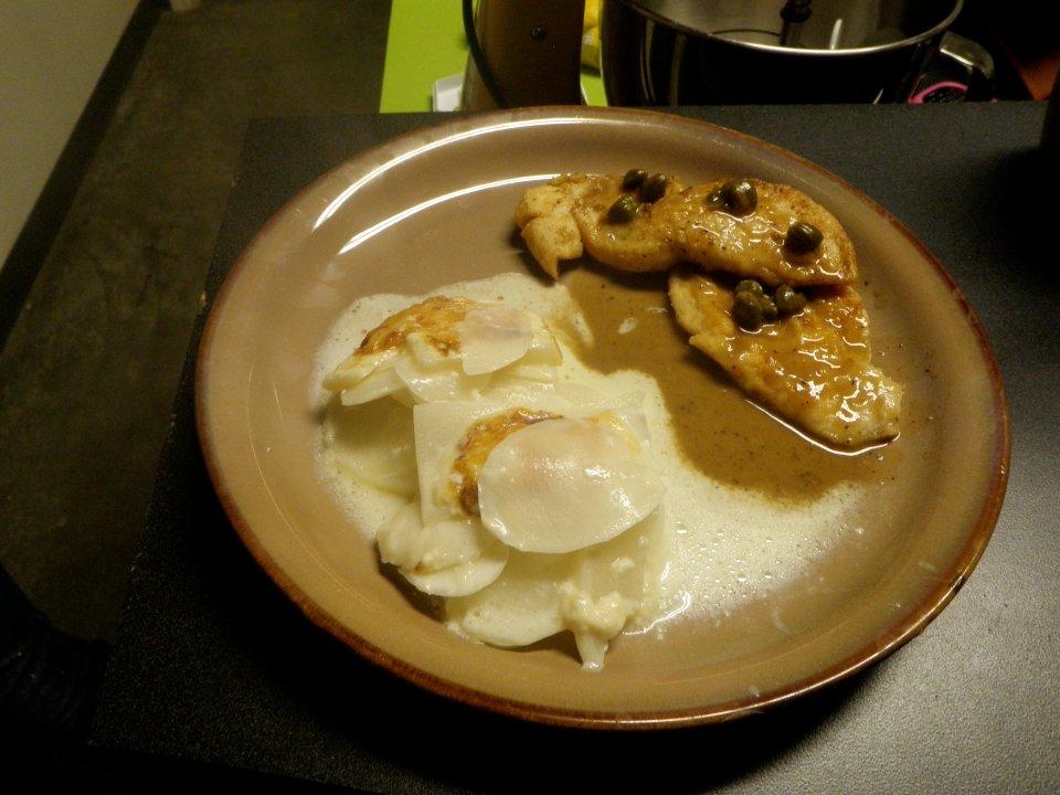 Куриное филе с лимонным соусом