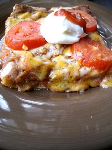 Рецепт Вегетарианская пицца по-мексикански