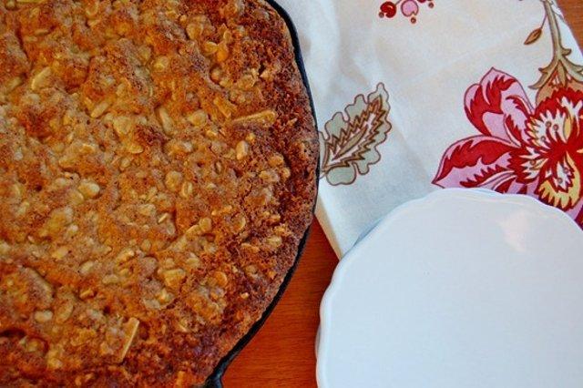 Шотландский овсяный пирог с миндалем