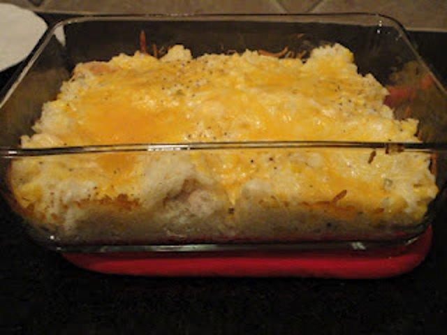 Рисовая запеканка с сыром