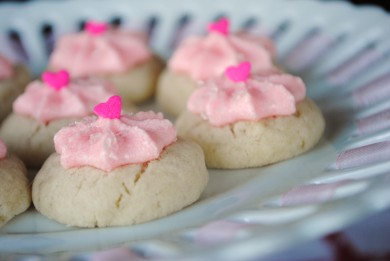 Рецепт Ванильное печенье с вишневой глазурью
