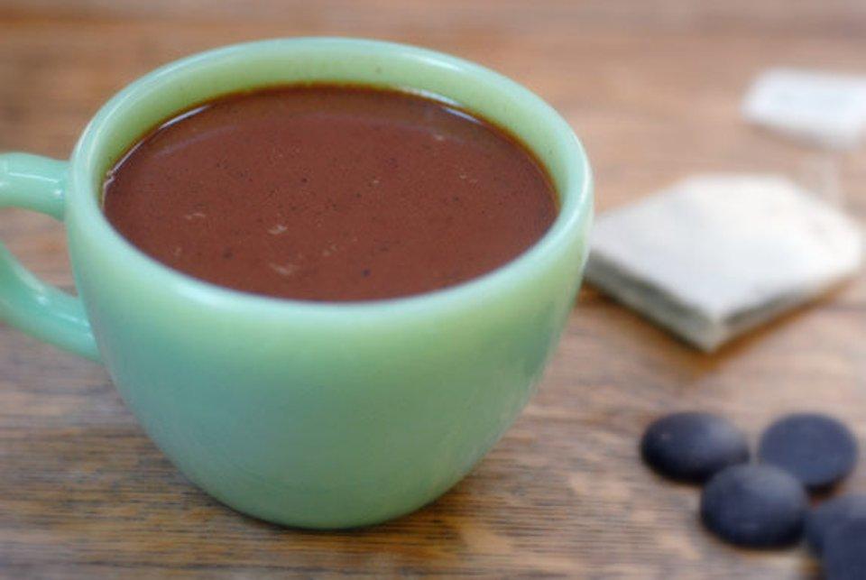 Мятный горячий шоколад
