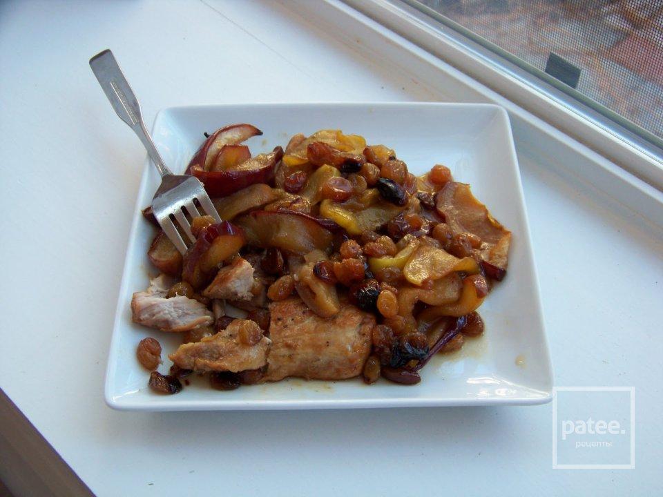 Свиные отбивные сяблоками итыквой , пошаговый рецепт с фото
