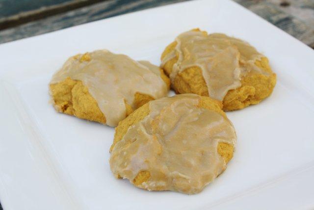 Тыквенное печенье с сахарной глазурью