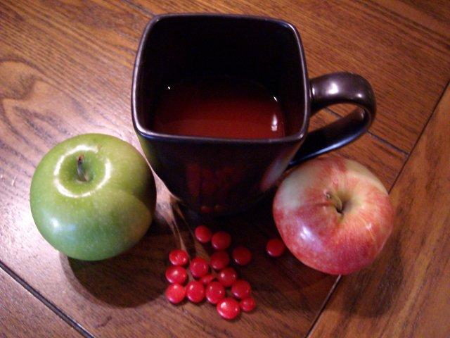Красный яблочный сидр