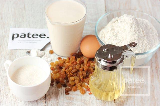 Оладьи на ряженке с изюмом - рецепт пошаговый с фото