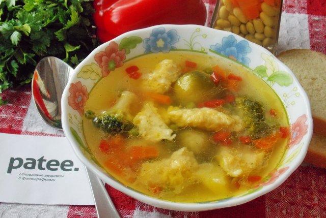 рецепт бульон с сырными варениками