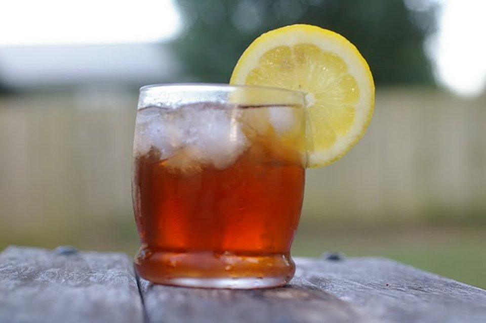 Цитрусовый чай со льдом