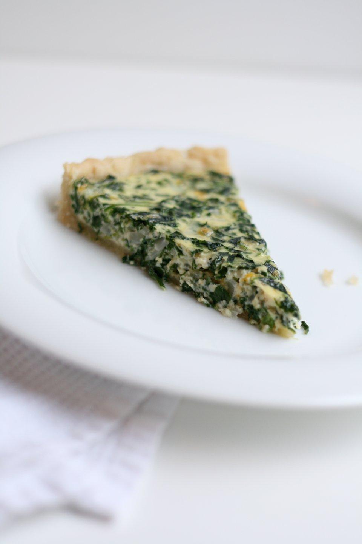 Лоранский пирог со шпинатом