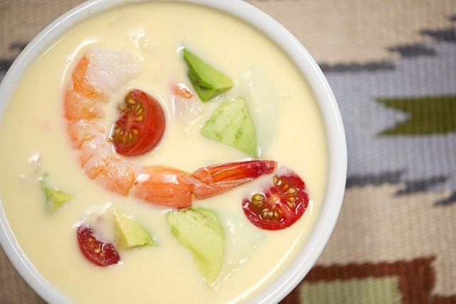 рецепт крем супа из креветок