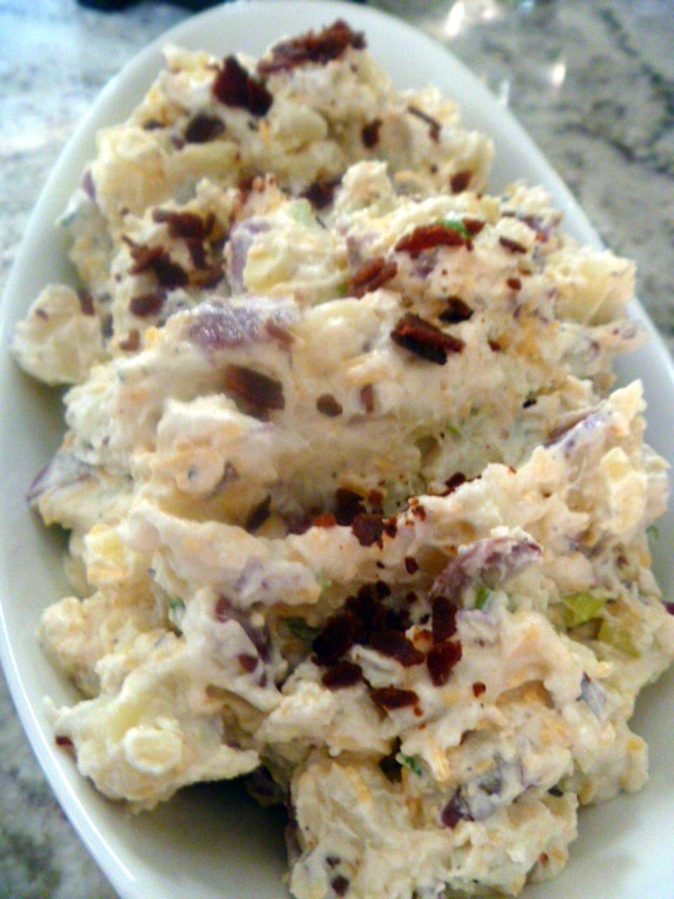 Картофельный салат - запеченный
