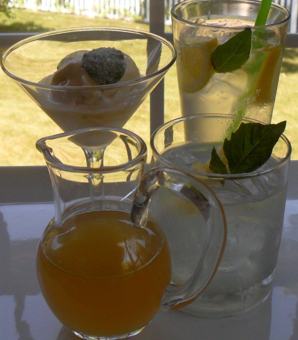 Лимонный сироп с базиликом