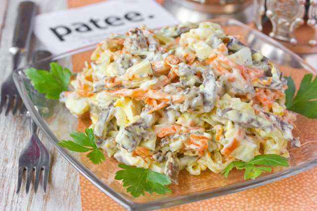 как приготовить салат с сердца