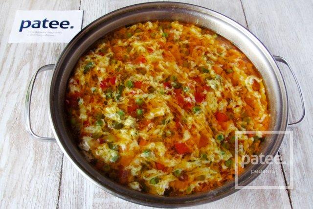 Овощной суп с яйцом