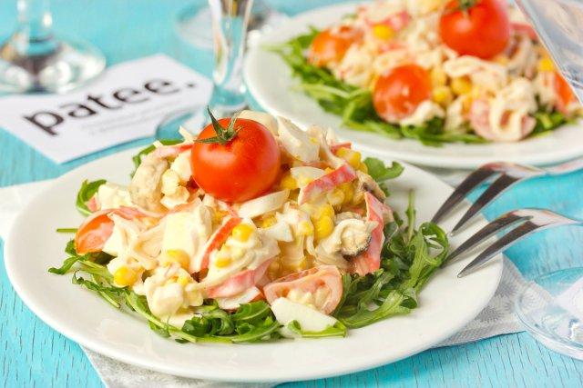 Салаты рецепты из морепродуктов