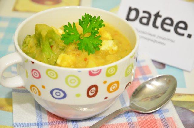 Сытный гороховый суп